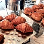 Croissants and pain au chocolats in the Executive Lounge