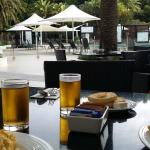"""Awesome brekky at """"Kalinda"""", by the pool."""