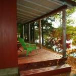Our Cabin Porch in Fall
