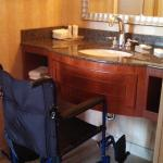 vanity is not wheelchair accessible
