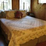 Larkspur Cabin king bed