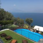 View of pool with Vesuvius in background