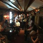 bar car with drinks and live music before dinner was served