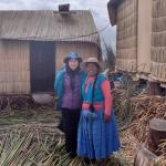 at Lake Titicaca, Uros Is