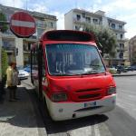 The arty room, the lush view, the cute bus, stunning Sant' Agnello, our perfect hosts and their