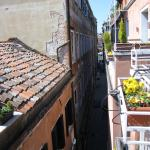 View from room balcony (Grand Canal at end of street)