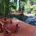 Relaxing area around the waterfalls