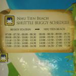 Schedule to the beach