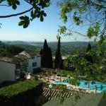 Le Hameau's pool, some rooms and view.