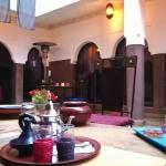 Tea time in the Riad Khabia patio.