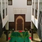 A view of the small pool of the Riad Khabia from the 1st floor.