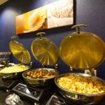 Complimentary hot breakfast buffet served daily