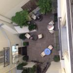 View of the patio from room 38 floor 3