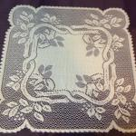 Irish lace under glass for the dining room tables