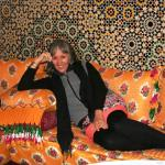 Lounging in the dining room of Riad El Yacout
