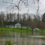 View of the house from other side of the lake