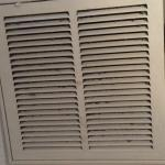 Filthy air vent in the bedroom