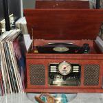Working record player in our room