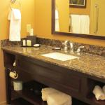 The bathroom was spacious and well maintained/spotless.