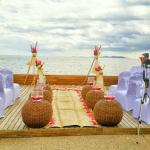 Our ceremony set up on the Ocean Deck