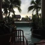 A stormy day by the pool