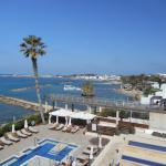 .View from corner room, looking towards Paphos harbour.