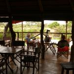 The deck - where you can watch the african bush go by, overlooking a water hole
