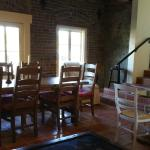 Dining area - breakfast and wine and cheese