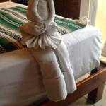 One of the many towel sculptures left by the staff