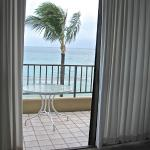 VIew from living room through patio ( Lanai)