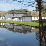 The cottages from the lochan (with trout apparently!!)