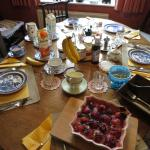 Breakfast spread at Park House