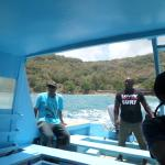 on Frank tour boat to Little Tobago and Goat Island