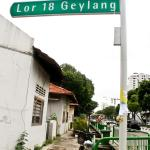 Hotel is located at Lorong 18 (Even No. street)