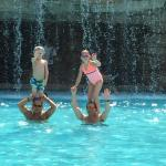 Fun by the pool with family!