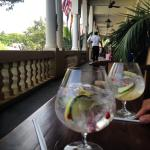 Gin & Tonics on the stoep at the Royal Hotel