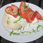 Hazelnut Meringue with Rosscarbery Strawberries, Mint and Cream