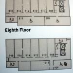 "Eighth and ninth floors (delete the ""e"")"