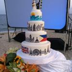 Our cake of the UK, Philippines, UAE and Acuatico Hotel