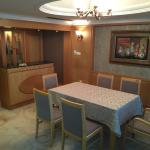 The dining room in my suite