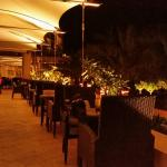 Terrace at night .. very warm and humid ..