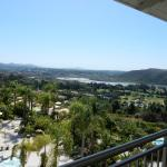 View from our fifth floor balcony of pool, golf and lagoon.