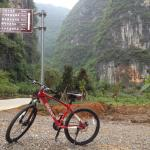 Cycling close to hotel