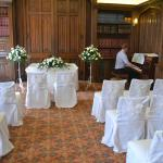 Library set out for wedding