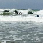 Jim's surf lesson one - whitewater - getting up on the board a