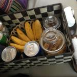 Snacks in the ride from the airport - nice touch