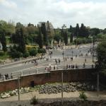 View from Colosseum towards Mecenate Rooms