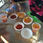 Complimentary chips, salsa and rum punches at the Monday Night Welcome Party