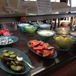 Breakfast buffet,cold selection area