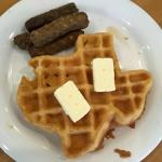 Texas-shaped waffles every morning :-)